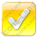 Checked Box Yellow Icon, PNG/ICO, 128x128