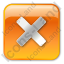Close Box Orange Icon, PNG/ICO, 128x128