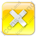 Close Box Yellow Icon