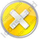 Close Circle Yellow Icon