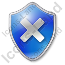 Close Shield Blue Icon