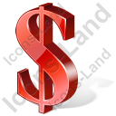 Dollar 3D Red Icon