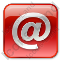 EMail Box Red Icon, PNG/ICO, 128x128