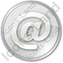EMail Circle Grey Icon, PNG/ICO, 128x128