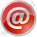 EMail Circle Red Icon