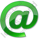 EMail Green Icon, PNG/ICO, 128x128