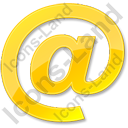 EMail Yellow Icon, PNG/ICO, 128x128
