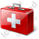 First Aid Kit Icon, PNG/ICO, 128x128