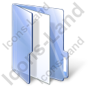 Folder File Blue Icon, PNG/ICO, 128x128