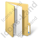 Folder File Yellow Icon, PNG/ICO, 128x128