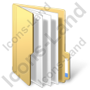 Folder Files Yellow Icon, PNG/ICO, 128x128