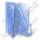 Folder Opened Blue Icon, PNG/ICO, 128x128