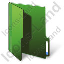 Folder Opened Green Icon