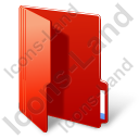 Folder Opened Red Icon