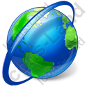 Globe Orbit Icon