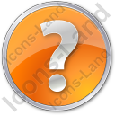 Help Circle Orange Icon, PNG/ICO, 128x128