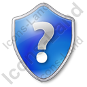 Help Shield Blue Icon