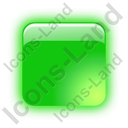 Indicator Box Green On Icon, PNG/ICO, 128x128