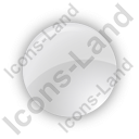 Indicator Round Grey On Icon, PNG/ICO, 128x128