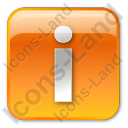 Info Box Orange Icon, PNG/ICO, 128x128