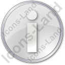 Info Circle Grey Icon, PNG/ICO, 128x128