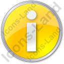 Info Circle Yellow Icon, PNG/ICO, 128x128