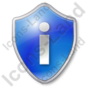 Info Shield Blue Icon, PNG/ICO, 128x128