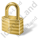 Lock Closed Yellow Icon