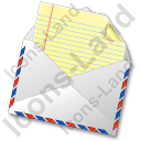 Mail 1 Opened Icon, PNG/ICO, 128x128