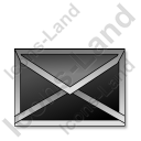 Mail Black Icon, PNG/ICO, 128x128