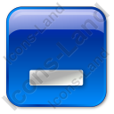 Minimize Box Blue Icon