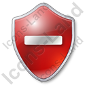 Minus Shield Red Icon