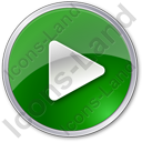 Play Green Icon, PNG/ICO, 128x128