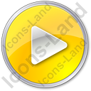 Play Yellow Icon, PNG/ICO, 128x128