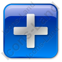 Plus Box Blue Icon