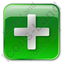 Plus Box Green Icon