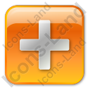 Plus Box Orange Icon