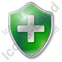 Plus Shield Green Icon