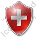 Plus Shield Red Icon