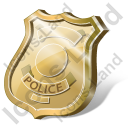 Police Badge 3D Icon