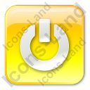Power Box Yellow Icon, PNG/ICO, 128x128