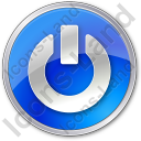 Power Circle Blue Icon