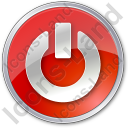 Power Circle Red Icon, PNG/ICO, 128x128