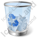 Recycle Bin 2 Full Icon, PNG/ICO, 128x128