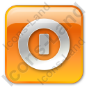 Shutdown Box Orange Icon