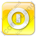 Shutdown Box Yellow Icon, PNG/ICO, 128x128