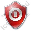 Shutdown Shield Red Icon