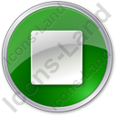 Stop Green Icon, PNG/ICO, 128x128