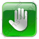 Stop Box Green Icon, PNG/ICO, 128x128