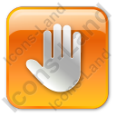 Stop Box Orange Icon, PNG/ICO, 128x128